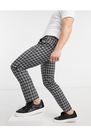 Burton Skinny power check cropped trousers in black and white