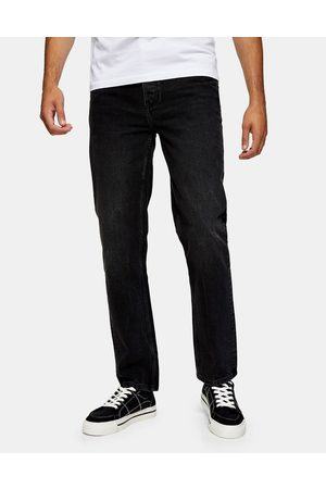 Topman Straight fit jeans in washed black