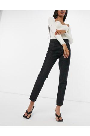 Femme Luxe Straight leg slouch jean in black