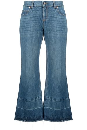 Gucci X Disney cropped bell bottom jeans