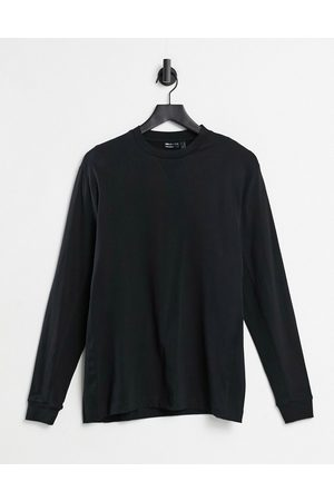 ASOS Relaxed long sleeve t-shirt with rib side panels in black