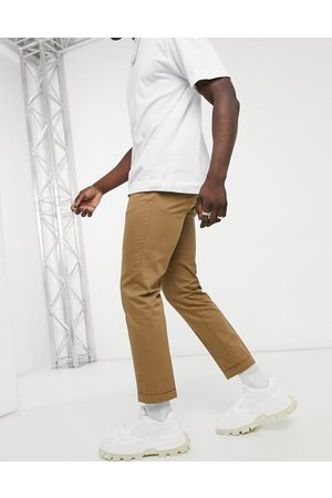 Burton Slim cropped trousers in tan