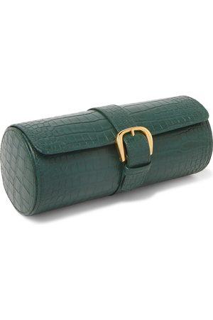 Rapport London Croc-Effect Leather Watch Roll