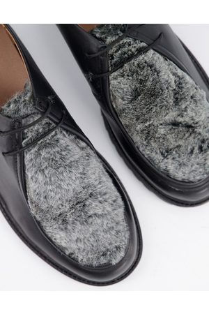 H by Hudson Sledge Faux fur shoes in black