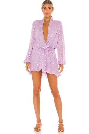 ROCOCO SAND Senhora Vestidos Compridos - X REVOLVE Lurex Dress in - Lavender. Size L (also in S).