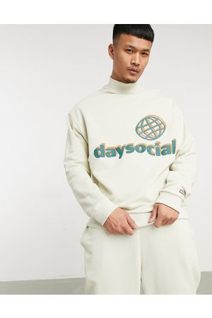 ASOS Day Social ASOS Daysocial oversized tracksuit in beige with print