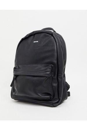 FENTON Front pocket backpack in black