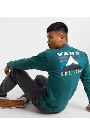 Vans Mountain back print long sleeve t-shirt in green Exclusive at ASOS