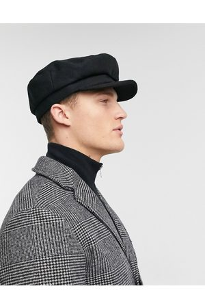 ASOS Mariner baker boy hat in black melton