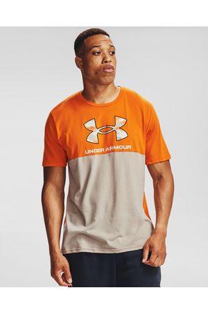 Under Armour Camo Big Logo T-shirt Brown Orange