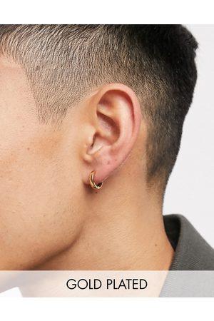 ASOS 9mm hoop earrings in 14k gold plate