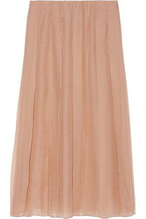 Gucci Chiffon pleated mid-length skirt