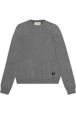 Gucci Logo-embroidered cashmere jumper