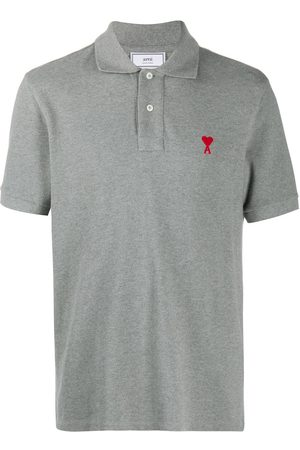 Ami Logo-embroidered polo shirt