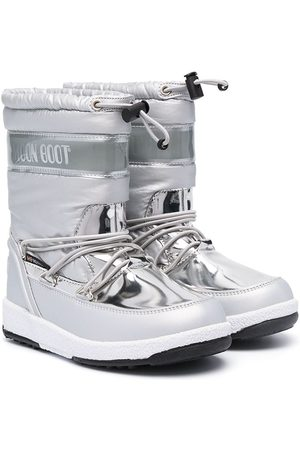 Moon Boot Metallic snow lace-up boots