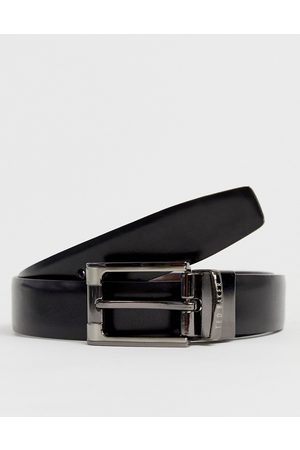 Ted Baker Crafti leather reversible belt in black