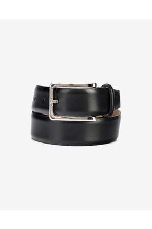 Calvin Klein Score Line Buckle Fixed Belt Black