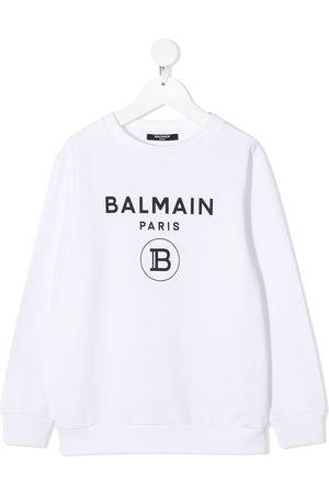 Balmain Menino Camisolas com capuz - Logo-print cotton sweatshirt