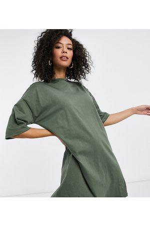 ASOS ASOS DESIGN Tall t-shirt dress in khaki-Green
