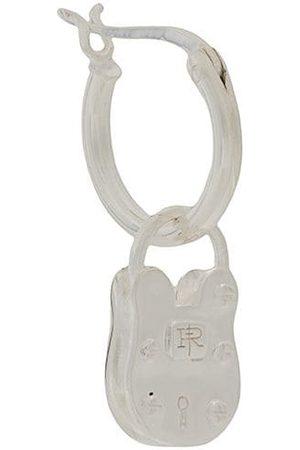 TRUE ROCKS Single padlock hoop earring