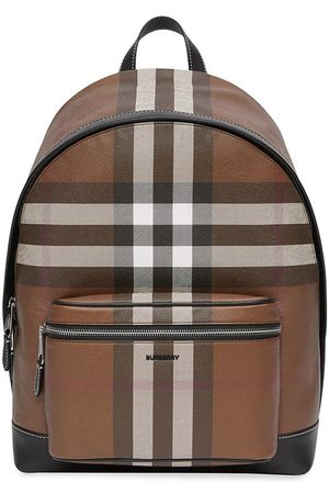 Burberry Check-pattern backpack