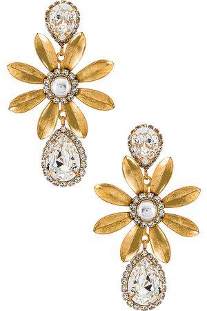 ELIZABETH COLE Chrissy Earrings in - Metallic Gold. Size all.