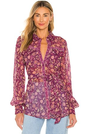 Tularosa Elodie Top in - Purple. Size L (also in XXS, XS, S, M, XL).