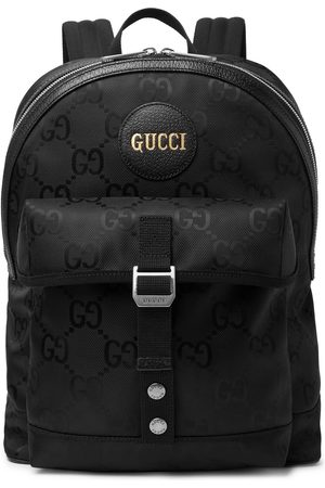 Gucci Leather-Trimmed Monogrammed ECONYL Backpack