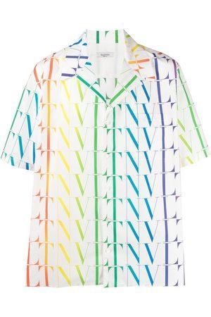 VALENTINO VLTN Times logo-print shirt