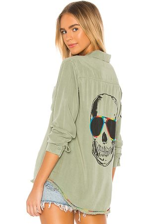LAUREN MOSHI Sloan Button Up in - Green. Size L (also in XS, S, M).