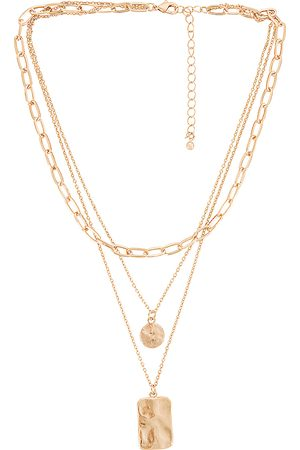 8 Other Reasons Laid Back Lariat Necklace in - Metallic . Size all.