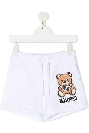 Moschino Menina Calções - Teddy Bear-print track shorts