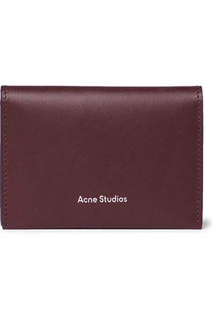 Acne Studios Homem Bolsas & Carteiras - Logo-Print Leather Billfold Wallet