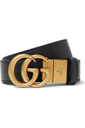 Gucci Homem Cintos - 3.5cm Logo-Detailed Full-Grain Leather Belt