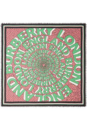 Burberry Cachecóis & Echarpes - Logo-print large square scarf