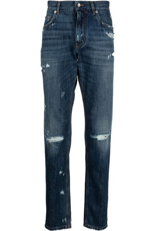 Dolce & Gabbana Ripped detailing slim-fit jeans