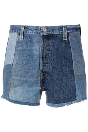 RE/DONE Patchwork denim shorts