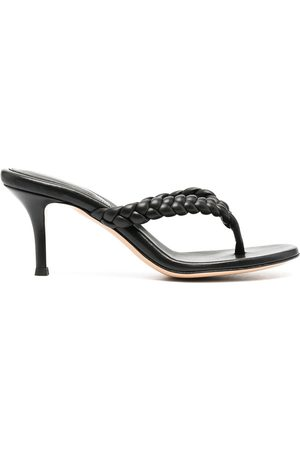 Gianvito Rossi Braided thong sandals