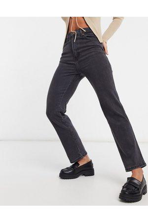 Wrangler Wild West high rise straight leg jeans in black