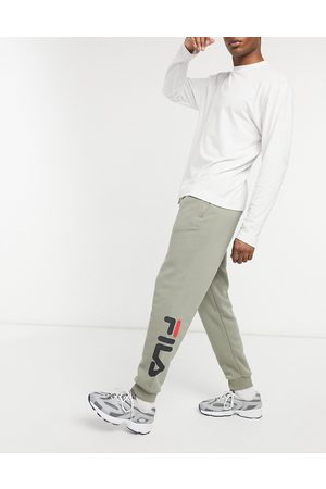 Fila Todd logo tapered joggers in beige