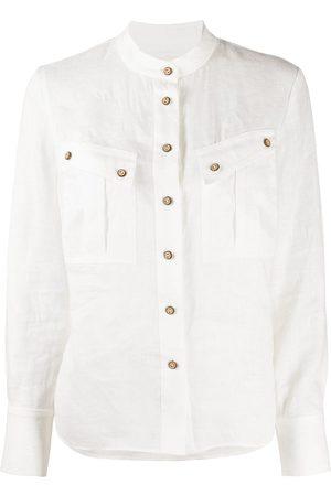 ZIMMERMANN Collarless long-sleeve shirt
