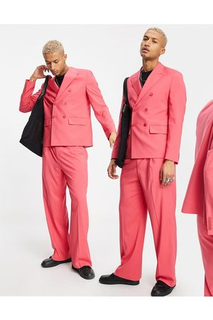 ASOS Boxy suit jacket in pink