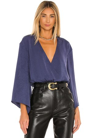 House of Harlow X REVOLVE Majori Blouse in - Navy. Size L (also in XS, S, M, XL).