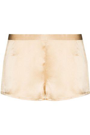 La Perla High-shine silk shorts