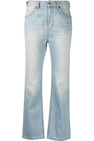 Victoria Victoria Beckham Mid-rise light-wash flared jeans