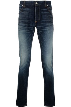 Balmain Slim-fit faded jeans