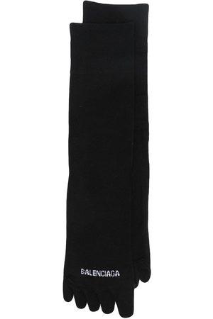 Balenciaga Logo-print knitted socks