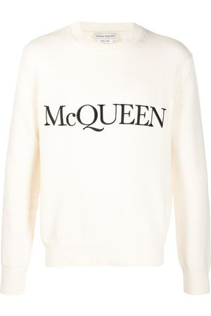 Alexander McQueen Logo-embroidered knitted jumper