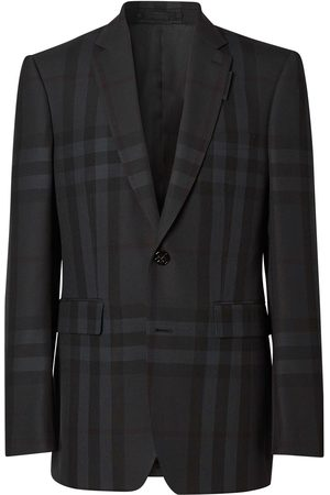Burberry Single-breasted check blazer