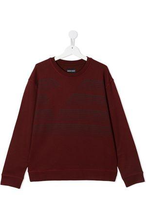 Emporio Armani TEEN slogan-print sweatshirt